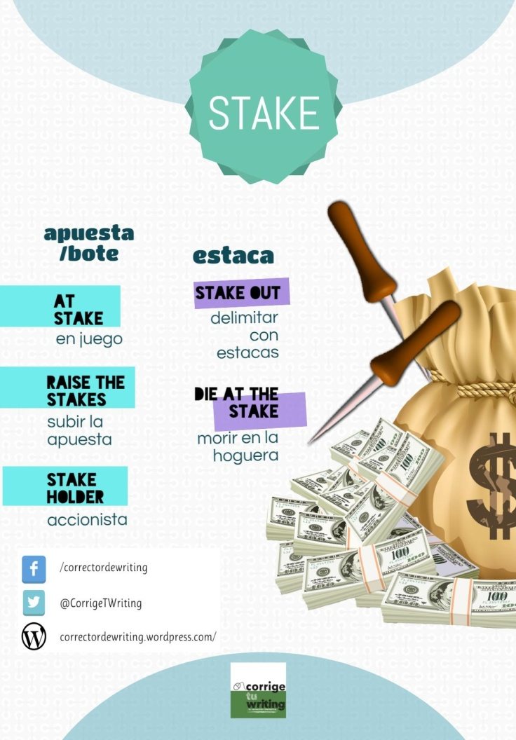 idioms with stake